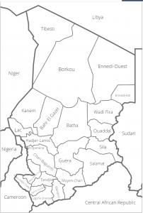 carte du tchad 2016